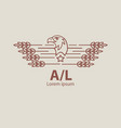 agriculture eagle logo label for natural farm vector image vector image