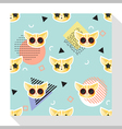 Animal seamless pattern collection with cat 9 vector image vector image