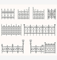 Antique fences - second set vector image vector image
