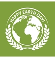 April 22 World Earth Day emblem label vector image