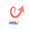 arrow icon in trendy flat style isolated vector image vector image