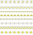 Art Deco Borders Style Line and Geometric Linear vector image vector image