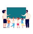 back to school preschool students teachers vector image