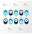 battle colorful icons set collection of artillery vector image vector image
