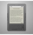black cool digital keybord book reader vector image