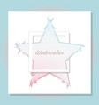 blue and pink watercolor star vector image vector image