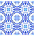 blue background floral decoration vector image vector image