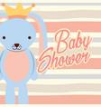 blue rabbit boy baby shower vector image vector image