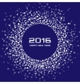 Blue White New Year 2016 Background vector image vector image