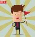 Business man holding flag - - EPS10 vector image