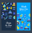 card or flyer with car wash vector image