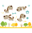 Cartoon dog collection vector image vector image