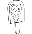 Cartoon frozen treat smiling vector image vector image