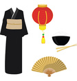 Chinese japanese set vector image