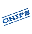 Chips Watermark Stamp vector image vector image