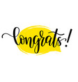 congrats lettering design vector image