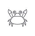 cute crab line icon concept cute crab vector image vector image