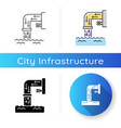 drainage system icon vector image