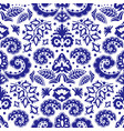 ethnic blue tatar ornament seamless pattern vector image