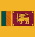 flag sri lanka swaying in wind realistic vector image