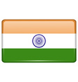 Flags India in the form of a magnet on vector image vector image