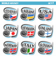 flags national ice hockey teams vector image vector image