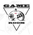 gamepad logo vector image vector image
