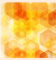geometric orange background with triangular vector image vector image