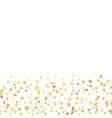 gold stars confetti celebration isolated on white vector image vector image