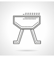 Gymnastics equipment flat line design icon vector image