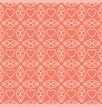 heart white line valentine day design pattern on vector image vector image