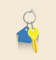house key icon real estate ilustration vector image
