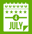 independence day icon green vector image vector image