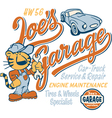 Joe tiger garage vector | Price: 1 Credit (USD $1)