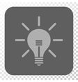 Light Bulb Rounded Square Button vector image