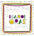 mardi gras colorful background with frame of vector image
