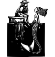 Mermaid and Man vector image vector image