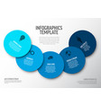 minimalist blue infographic template vector image vector image
