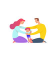 mother and father cuddling with their son parents vector image vector image