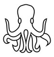 octopus icon outline style vector image vector image