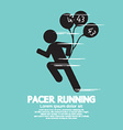 Pacer Running With Balloons Symbol vector image vector image