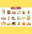people moving to new house with things and home vector image