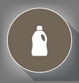 plastic bottle for cleaning white icon on vector image vector image