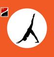 pose of asana yoga vector image vector image