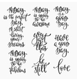 Positive life inspiration quotes lettering set vector image vector image