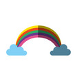 rainbow with clouds icon image vector image vector image