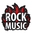 rock music in the fire vector image vector image