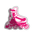 rollers and ice skates sport vector image vector image