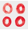 Round red spots The texture of acrylic Blurred vector image vector image