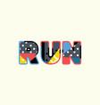 run concept word art vector image